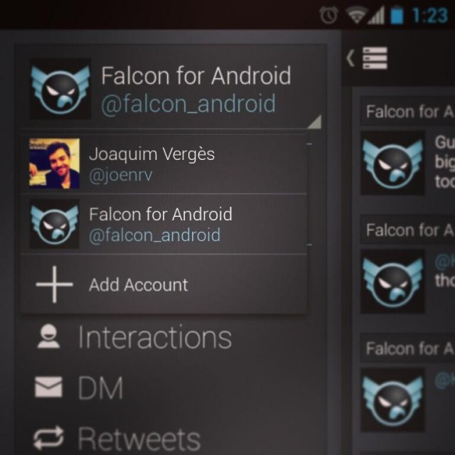 falcon pro multiple accounts