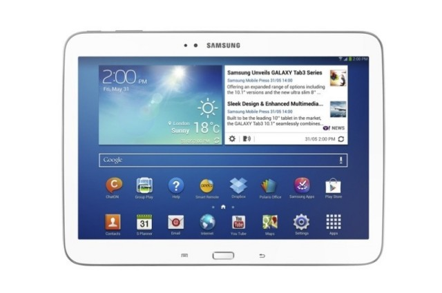 galaxy tab 3 10 inch white front
