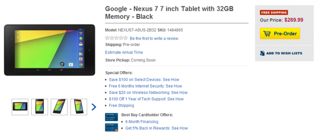 Google   Nexus 7 7 inch Tablet with 32GB Memory   Black   NEXUS7 ASUS 2B32