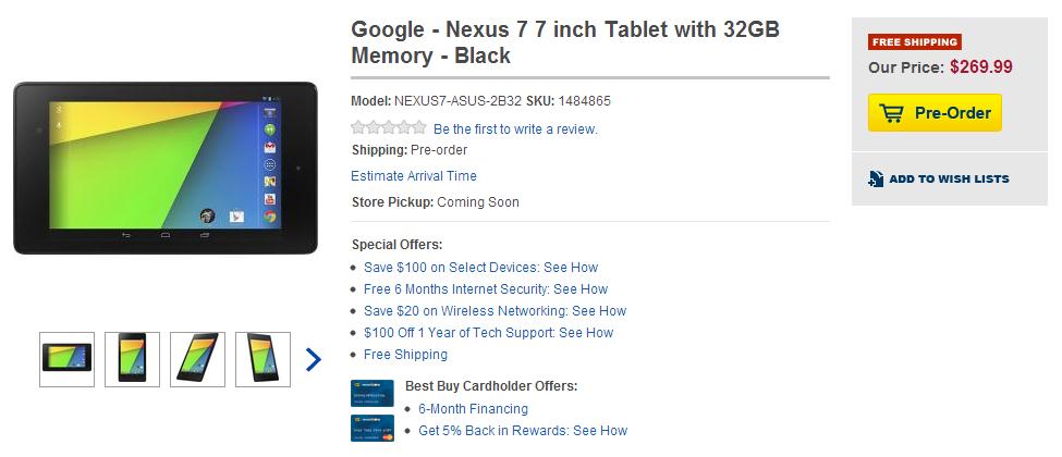 Google Nexus 7 Fhd Tablet By Asus 2013 7 Inch 32 Gb