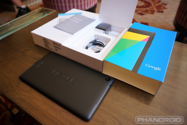 New Nexus 7  2013 unboxing