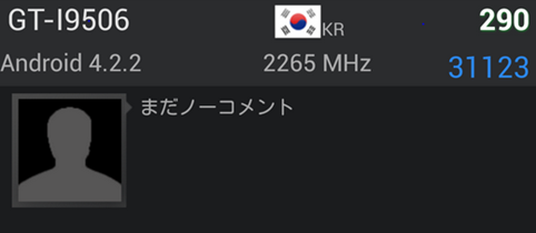Samsung GT-I906 benchmark