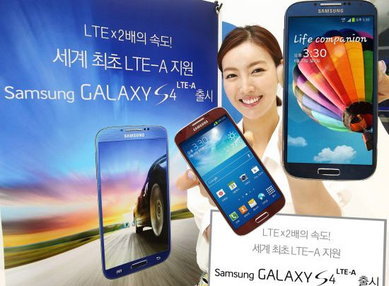 Samsung Galaxy S4 LTE-A press