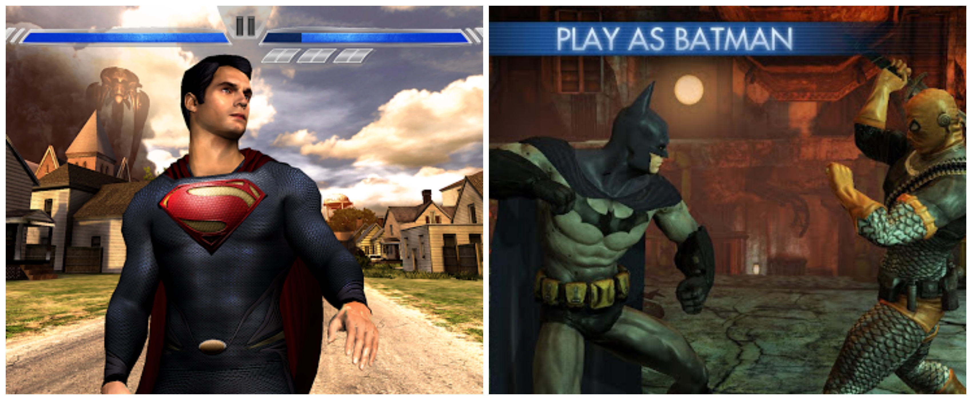 Man of Steel and Batman - Arkham City Lockdown