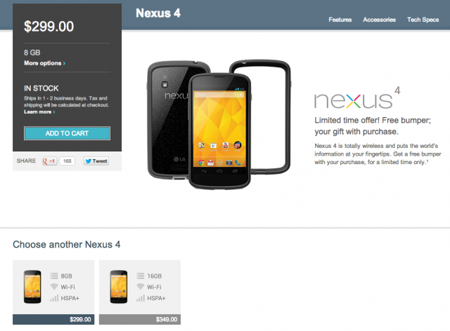 White Nexus 4 missing Google Play