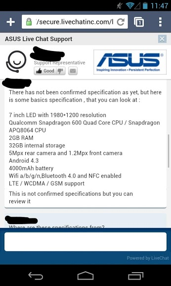 asus new nexus 7 specs