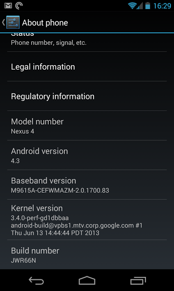 nexus 4 android 4-3 system dump