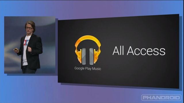Google Play Music All Access IO 2013