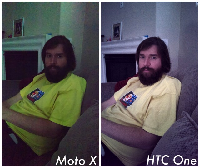Moto X vs HTC One GPe low light