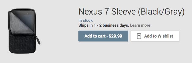 Nexus 7 sleeve