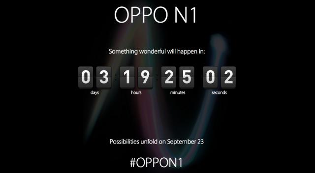 OPPO N1 countdown teaser