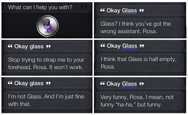 Ok Glass Siri remarks collage