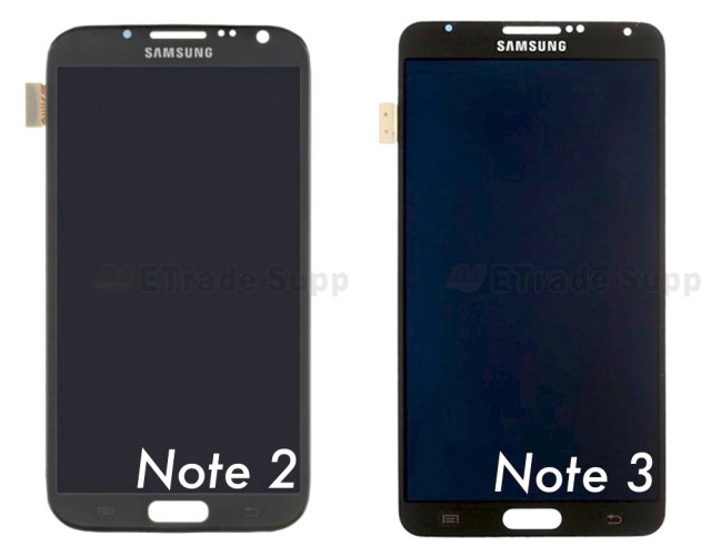 Leak: Samsung Galaxy Note 3 display vs Note 2