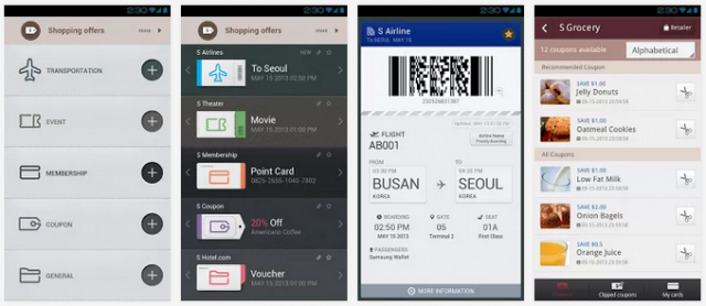Samsung Wallet screenshots