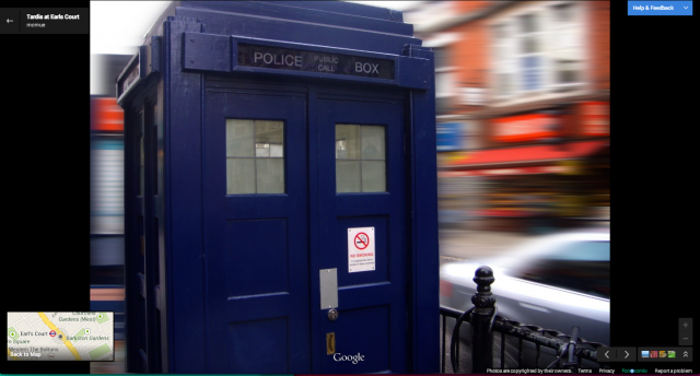 Doctor Whos Tardis Makes Appearance On Google Maps 360