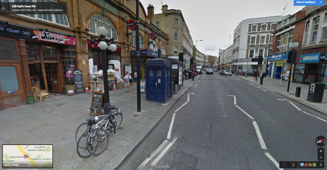 Tardis Google Maps Street View