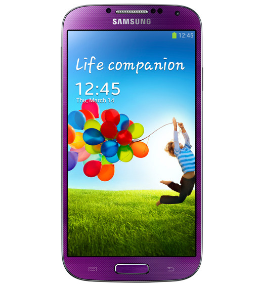 Samsung Galaxy S4 Purple front