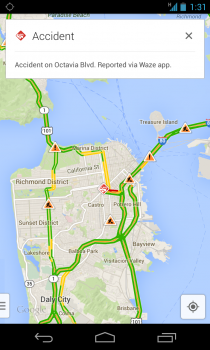 google maps waze accident