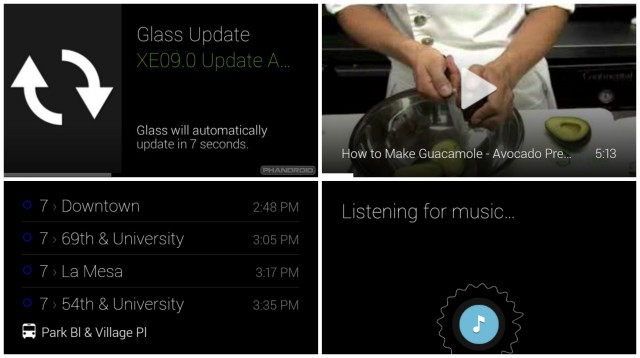 Google Glass XE9 update