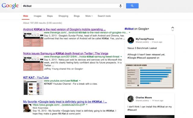 Google Hashtag search