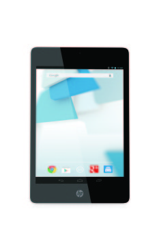 HP Slate8 Pro Tablet, Snow White with Android Screen, Front