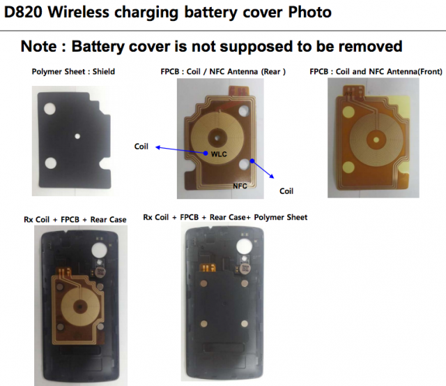 LG D820 FCC wireless charging cover Nexus 5