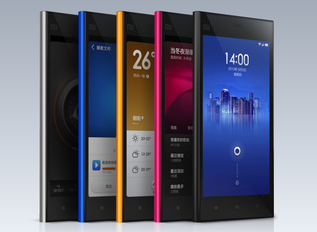 Xiaomi Mi3 Mi-3 Millet Phone Colors