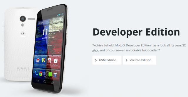 Moto X Developer Edition