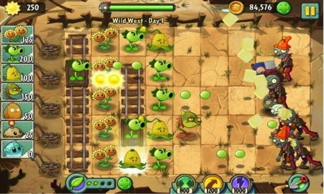 Plants vs Zombies 2 china gameplay