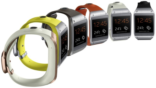 Samsung Galaxy Gear 6 colors side
