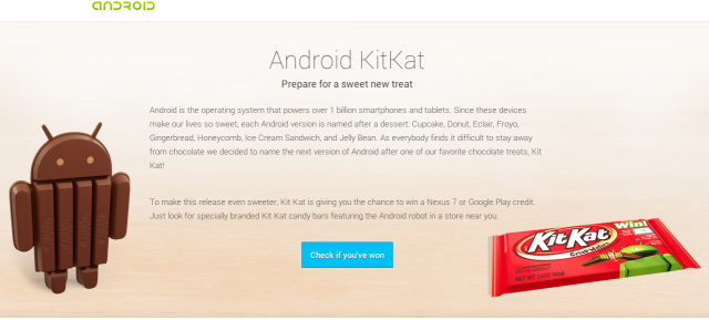 Android 4.4 Kit Kat is official