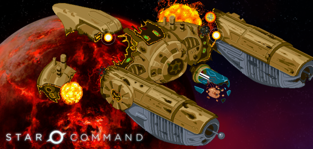 Star Command alien ship blown up