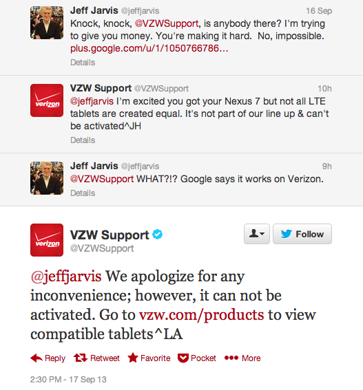 VZW Support Nexus 7 LTE