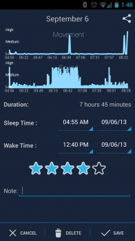 sleepbot screenshot