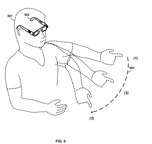 Google Glass patent gestures Fig 5