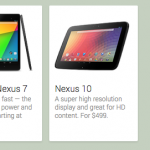 Google Play Devices Nexus 4 7 10