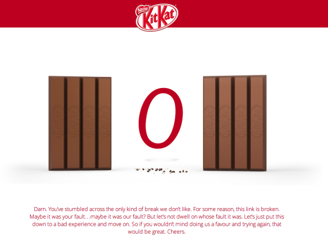 KitKat.com Android old 404 message