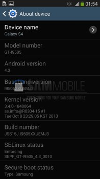 Samsung galaxy s4 43 update