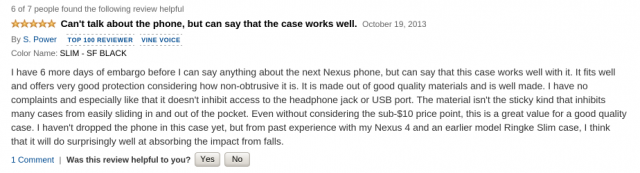 amazon review nexus 5 case