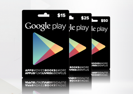 google play gift cards canada