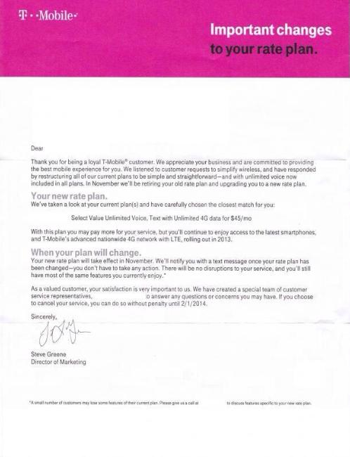 t-mobile plan letter