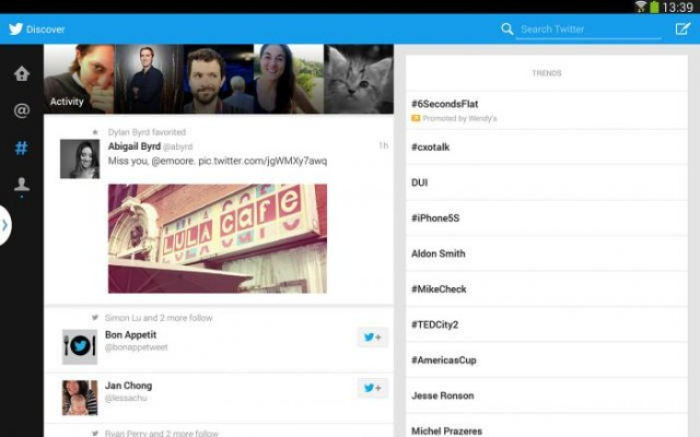 twitter for android tablets samsung