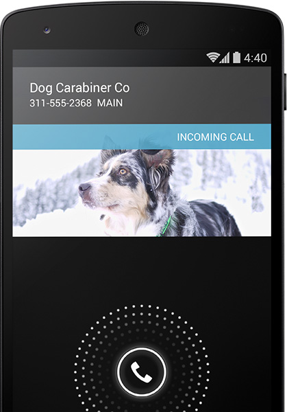 Android kitkat 4.4 call id