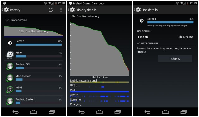 Nexus 5 battery life