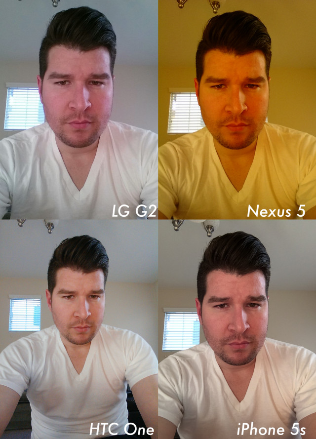 Nexus 5 front facing camera comparison