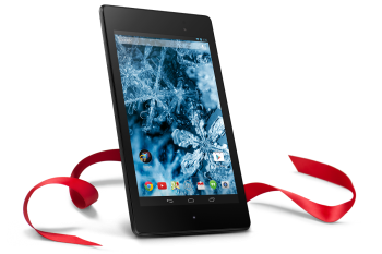 Nexus 7 holiday ribbon