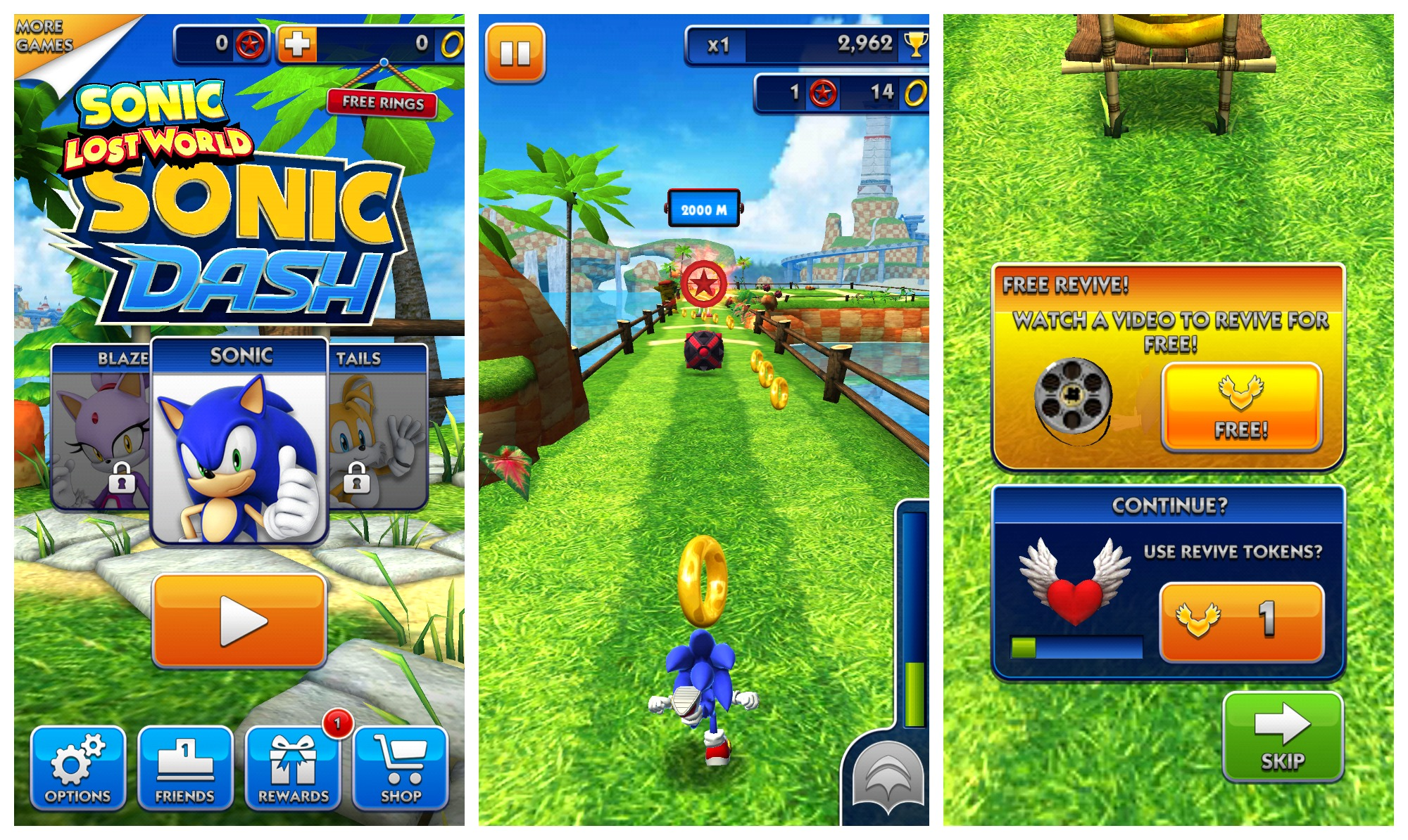 Sonic Dash comes rolling into the Google Play Store, takes in-app ads