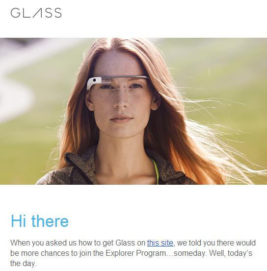 glass explorer invites