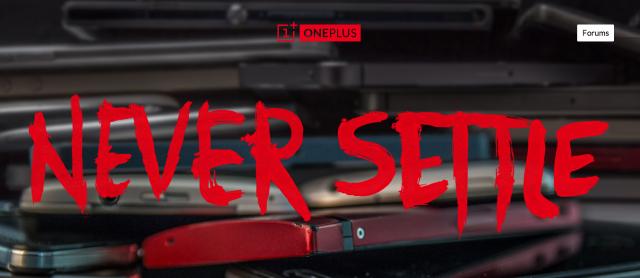 OnePlus site header