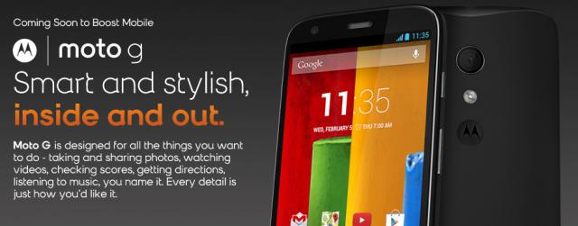 Boost Mobile Moto G